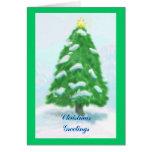 Tarjeta de Navidad en blanco