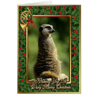 Tarjeta de Navidad en blanco animal africana de Me