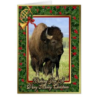 Tarjeta de Navidad en blanco animal norteamericana