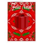Tarjeta de Navidad en portugués
