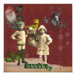 Tarjeta de Navidad enrrollada del collage del Comunicados Personales