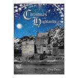 Tarjeta de Navidad escocesa de las montañas