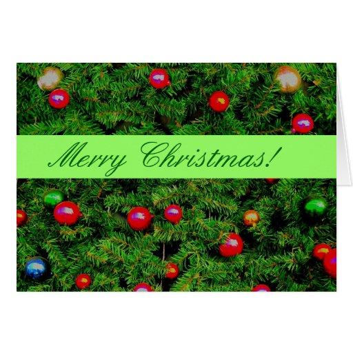 Tarjeta de Navidad estacional