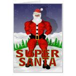 Tarjeta de Navidad estupenda de Papá Noel