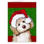 Tarjeta de Navidad fantasma del Doodle de Santa