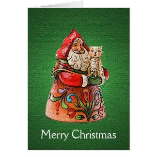 Tarjeta de Navidad felina de Navidad