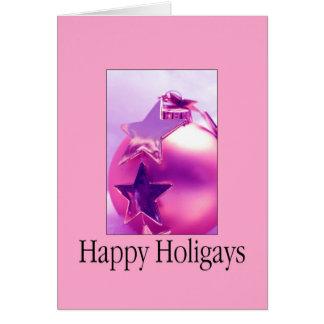 Tarjeta de Navidad feliz de Holigays