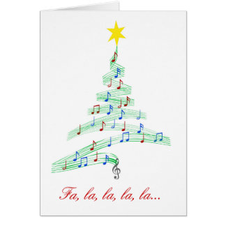 Tarjeta de Navidad feliz de las notas de la diva