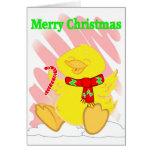 Tarjeta de Navidad feliz del pato