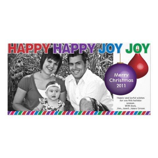 Tarjeta de Navidad feliz feliz de la alegría de la Tarjetas Personales