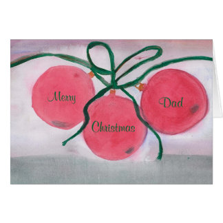 Tarjeta de Navidad, feliz, papá, navidad