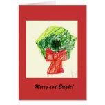 Tarjeta de Navidad feliz y brillante