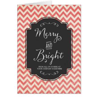 Tarjeta de Navidad feliz y brillante del empleado