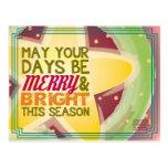 tarjeta de Navidad feliz y brillante Tarjetas Postales