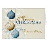 Tarjeta de Navidad festiva personalizada