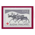Tarjeta de Navidad finlandesa del reno