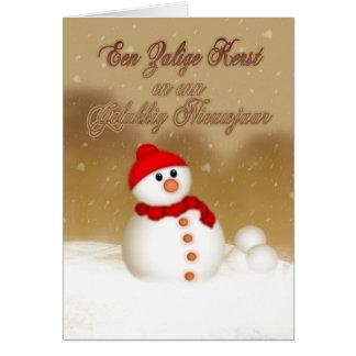 Tarjeta de Navidad flamenca - En Enn Geluk de Zali