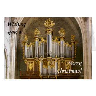 Tarjeta de Navidad francesa del órgano