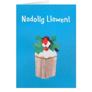 Tarjeta de Navidad Galés de la diversión,