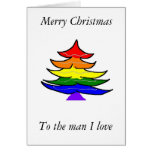 Tarjeta de Navidad gay