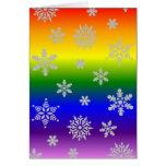Tarjeta de Navidad gay con clase y elegante simple