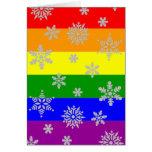 Tarjeta de Navidad gay simple y elegante