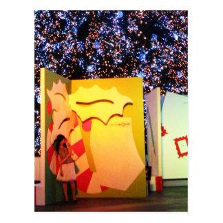 Tarjeta de Navidad gigante en Bangkok, Tailandia Postales