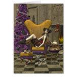 """Tarjeta de Navidad gótica - """"para Santa que espera"""