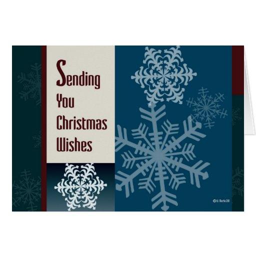 Tarjeta de Navidad gráfica de los copos de nieve