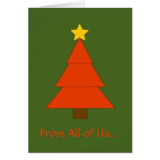 Tarjeta de Navidad gráfica simple