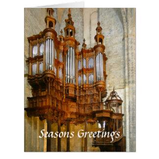 Tarjeta de Navidad grande del órgano del St