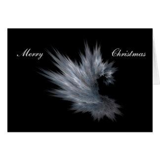 Tarjeta de Navidad gris de la piel