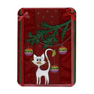 Tarjeta de Navidad hecha a mano del tintineo del g Imanes