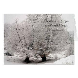 Tarjeta de Navidad helada de los árboles