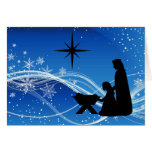 Tarjeta de Navidad hermosa de la escena de la nati