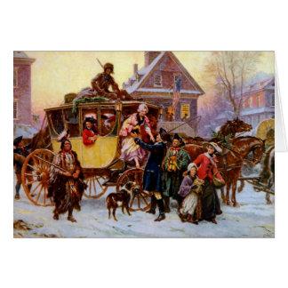 Tarjeta de Navidad histórica del vintage