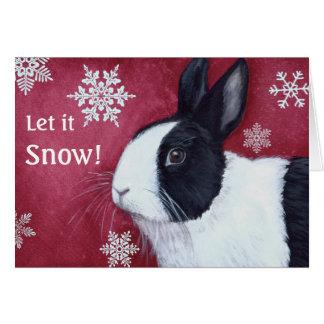 Tarjeta de Navidad holandesa del conejito