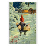 Tarjeta de Navidad holandesa/noruega del vintage d