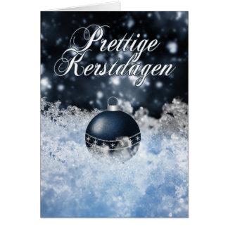 Tarjeta de Navidad holandesa - Prettige Kerstdagen