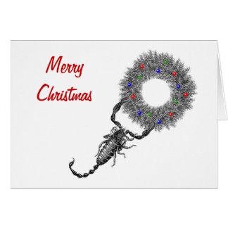 Tarjeta de Navidad horizontal del escorpión con el