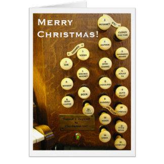 Tarjeta de Navidad ideal del órgano