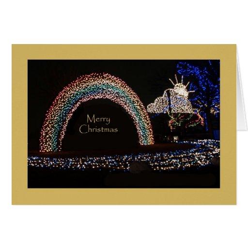Tarjeta de Navidad inusual -- Arco iris