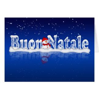 Tarjeta de Navidad italiana - Buon Natale e Felice