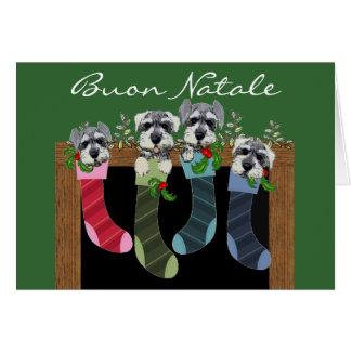 Tarjeta de Navidad italiana de Buon Natale