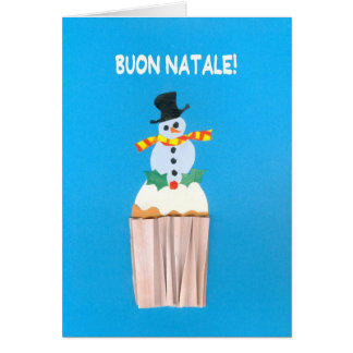 Tarjeta de Navidad, italiano, magdalena con el