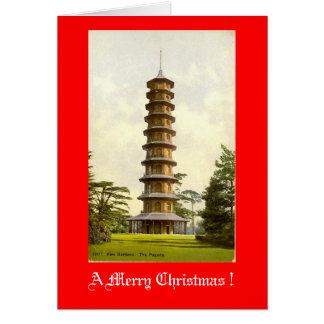 Tarjeta de Navidad, jardines de Kew