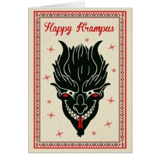 Tarjeta de Navidad - Krampus hace frente