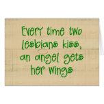 Tarjeta de Navidad lesbiana divertida