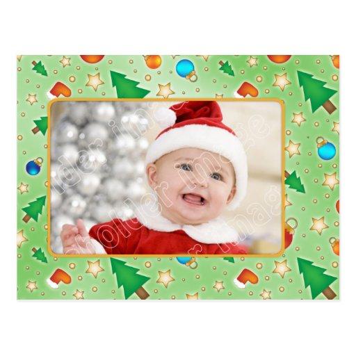 Tarjeta de Navidad linda colorida con las Tarjeta Postal