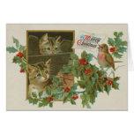Tarjeta de Navidad linda de los gatitos